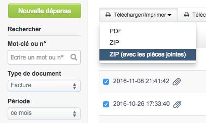 Télécharger Pièces jointes Document Fonctionnalités Facturation VosFactures.fr