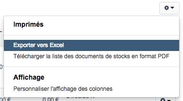 Facturation Document Stock Export BL Bon Livraison Entrée