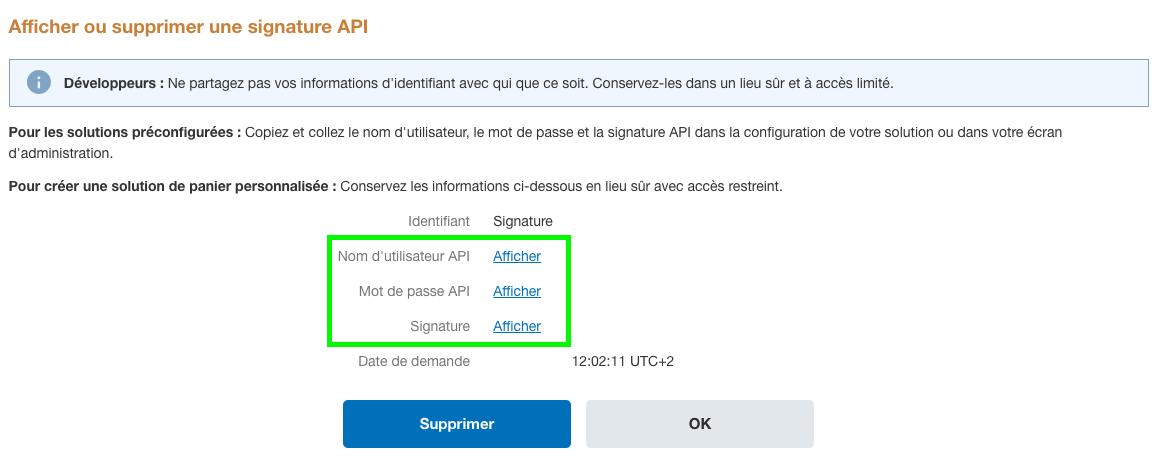 Facturation Paiement en Ligne PayPal Règlement Paramétrage API