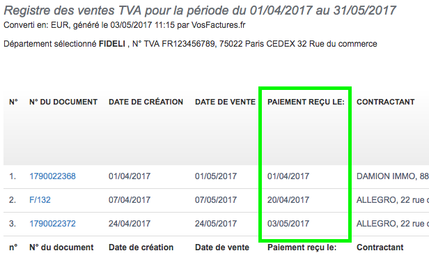 Facturation Rapport Facture Paiement Date Échéance Retard