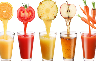 A Glass of juice for a good health
