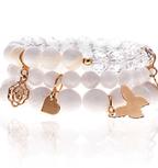 White Romance Bracelets | Wendy Simply You